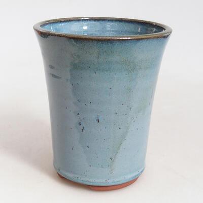 Ceramic bonsai bowl 10.5 x 10.5 x 13.5 cm, color blue - 1