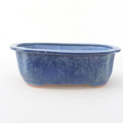 Ceramic bonsai bowl 21 x 16.5 x 7 cm, color blue - 1