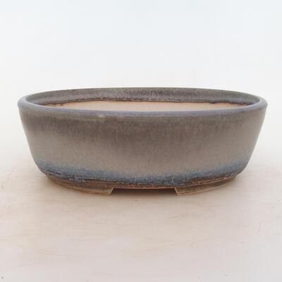 Bonsai bowl 22.5 x 17.5 x 7 cm, gray color - 1