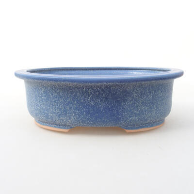 Ceramic bonsai bowl 24 x 20 x 8 cm, color blue - 1