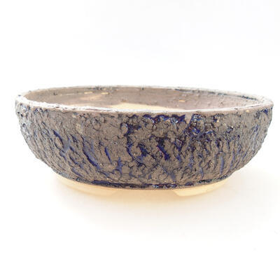 Ceramic bonsai bowl 19.5 x 19.5 x 6.5 cm, color gray-blue - 1