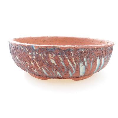 Ceramic bonsai bowl 18 x 18 x 6 cm, gray-blue color - 1