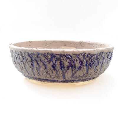 Ceramic bonsai bowl 22 x 22 x 7 cm, color gray-blue - 1