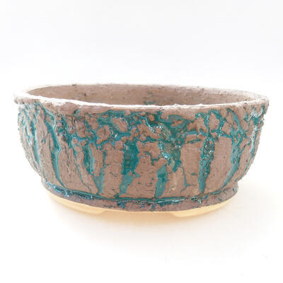 Ceramic bonsai bowl 18 x 18 x 7.5 cm, color gray-green - 1