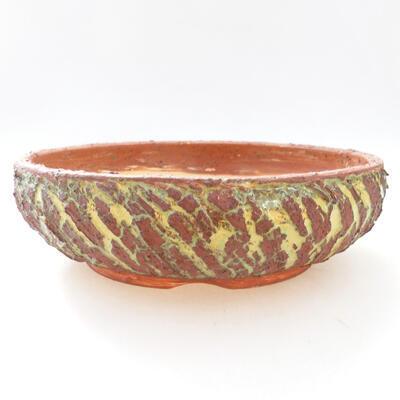 Ceramic bonsai bowl 20 x 20 x 6 cm, color gray-green - 1