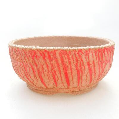 Ceramic bonsai bowl 14.5 x 14.5 x 6.5 cm, color gray-yellow - 1