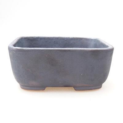 Ceramic bonsai bowl 11 x 8 x 5 cm, metal color - 1
