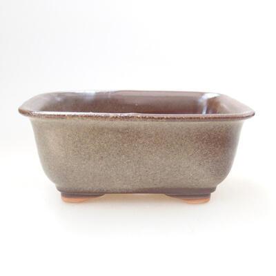 Ceramic bonsai bowl 12 x 9 x 5.5 cm, brown color - 1