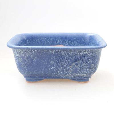 Ceramic bonsai bowl 12 x 9 x 6 cm, color blue - 1