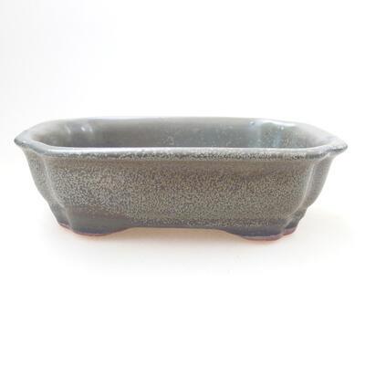 Ceramic bonsai bowl 14 x 11 x 4.5 cm, color green - 1