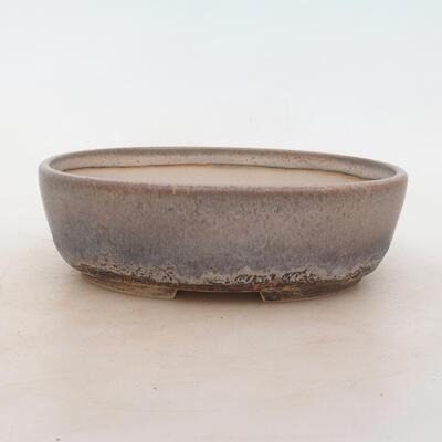 Bonsai bowl 20 x 15 x 6 cm, gray color - 1