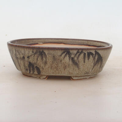 Bonsai bowl 17 x 12 x 5 cm, color brown-gray - 1
