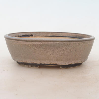 Bonsai bowl 18 x 13 x 6 cm, color gray - 1