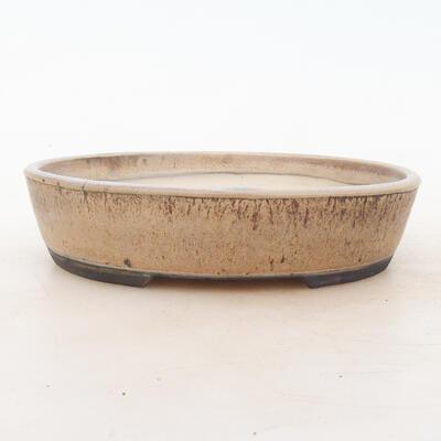 Bonsai bowl 19 x 15 x 4.5 cm, brown-beige color - 1