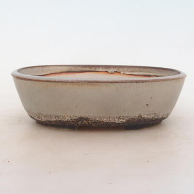 Bonsai bowl 20 x 14 x 6 cm, color gray - 1