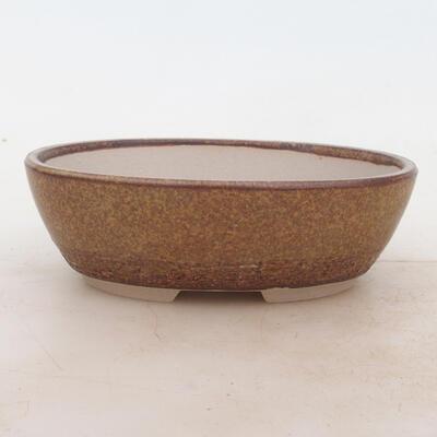 Bonsai bowl 16 x 11 x 5 cm, color brown - 1