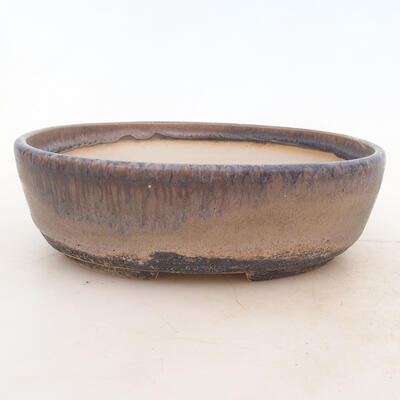 Bonsai bowl 20 x 15 x 6 cm, gray color - 1