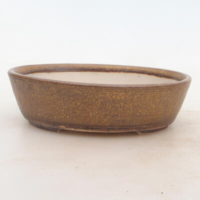 Bonsai bowl 19 x 15 x 5 cm, color brown - 1