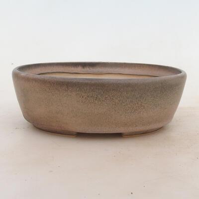 Bonsai bowl 18 x 13 x 6 cm, color gray - 1