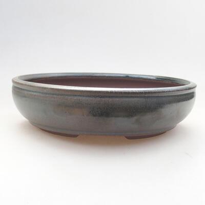 Ceramic bonsai bowl 19 x 19 x 5 cm, color green - 1