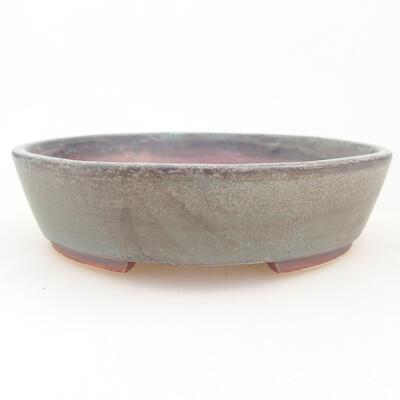 Ceramic bonsai bowl 14 x 13 x 3.5 cm, gray color - 1