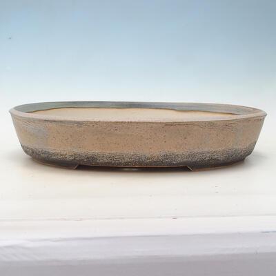 Bonsai bowl 44.5 x 35.5 x 8.5 cm, color beige-gray - 1
