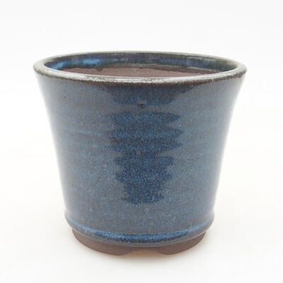 Ceramic bonsai bowl 9 x 9 x 7.5 cm, color blue - 1