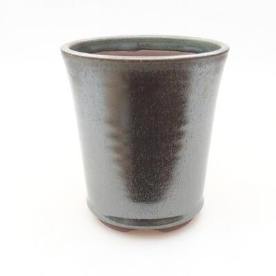 Ceramic bonsai bowl 10.5 x 10.5 x 12 cm, color green - 1