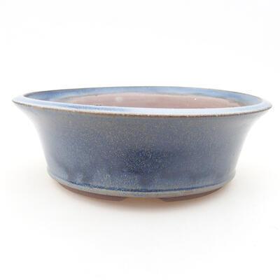 Ceramic bonsai bowl 17 x 17 x 6 cm, color blue - 1