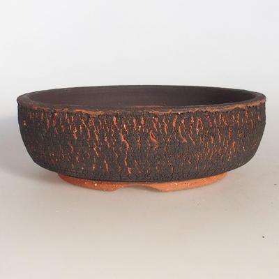 Ceramic bonsai bowl 19.5 x 19.5 x 6.5 cm, color cracked - 1
