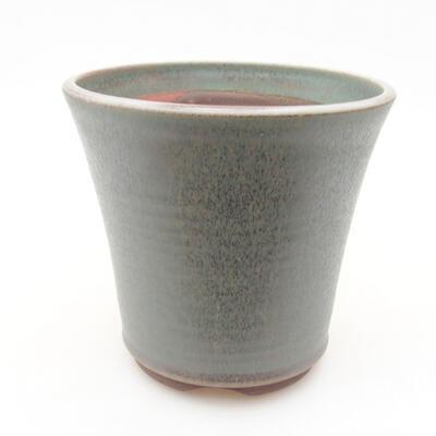 Ceramic bonsai bowl 12 x 12 x 11.5 cm, color green - 1