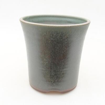 Ceramic bonsai bowl 12 x 12 x 12 cm, color green - 1