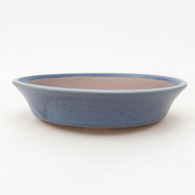 Ceramic bonsai bowl 19 x 19 x 4 cm, color blue - 1