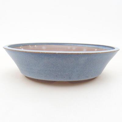 Ceramic bonsai bowl 18 x 18 x 4.5 cm, color blue - 1