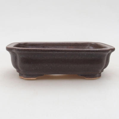 Ceramic bonsai bowl 14 x 11 x 4 cm, color brown - 1
