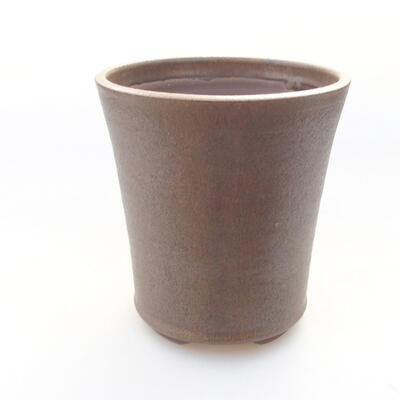 Ceramic bonsai bowl 12 x 12 x 13 cm, color brown - 1