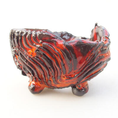 Ceramic shell 7 x 7 x 5.5 cm, color orange - 1
