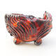 Ceramic shell 7 x 7 x 5.5 cm, color orange - 1/3