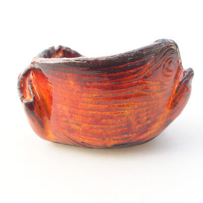 Ceramic shell 7 x 7 x 5 cm, color orange - 1