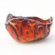Ceramic shell 7 x 7 x 4.5 cm, color orange - 1/3