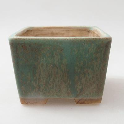 Ceramic bonsai bowl 8 x 8 x 6 cm, color green - 1