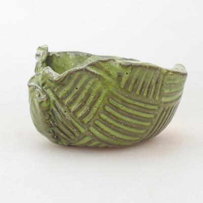 Ceramic shell 7.5 x 7 x 4 cm, color green - 1
