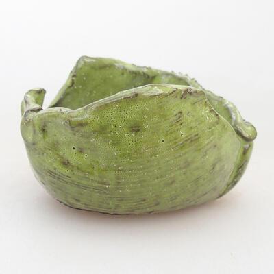 Ceramic shell 7 x 7 x 5 cm, color green - 1