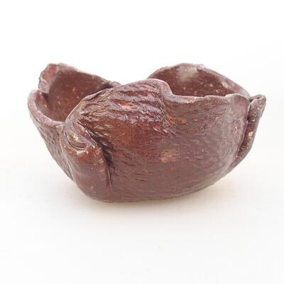 Ceramic shell 8 x 7.5 x 5 cm, brown color - 1