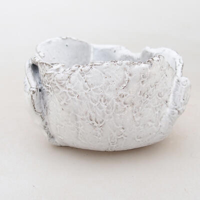 Ceramic shell 7 x 7 x 5 cm, white color - 1