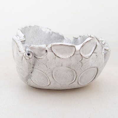 Ceramic shell 7 x 7 x 5 cm, white color - 1