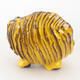 Ceramic shell 7 x 7 x 7.5 cm, yellow color - 1/3