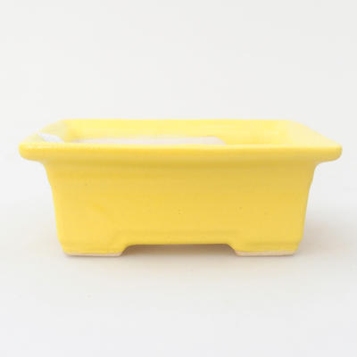 Ceramic bonsai bowl 11,5 x 9 x 4 cm, yellow color - 1
