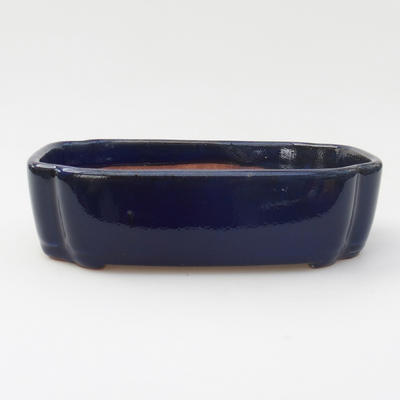 Ceramic bonsai bowl 18 x 12,5 x 5 cm, color blue - 1