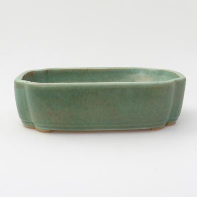 Ceramic bonsai bowl 18 x 12,5 x 5 cm, color green - 1